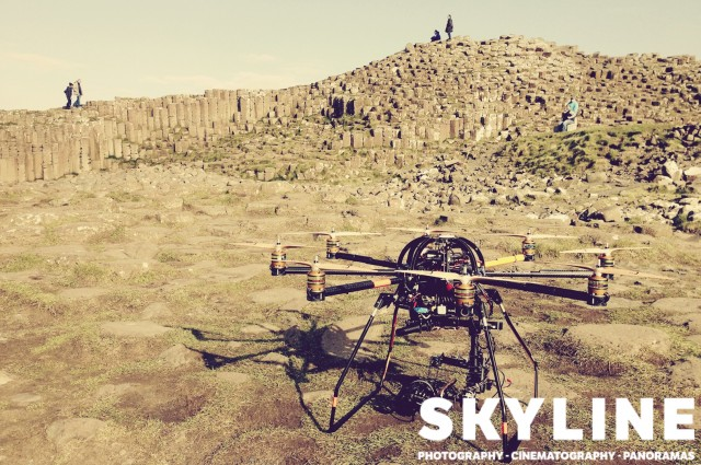 Our octocopter at the iconic formations